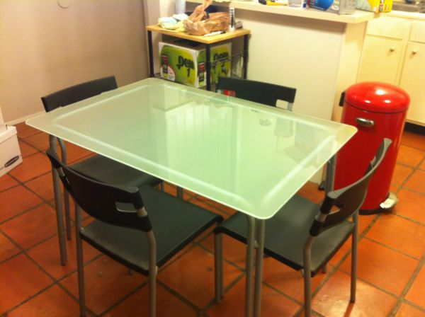Picture of: ikea glass dining table austin craigslist 35
