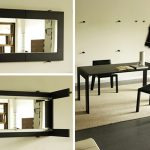 Mirror Folding Dining Table