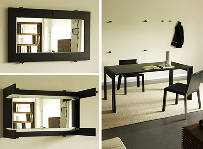 Image of: mirror folding dining table