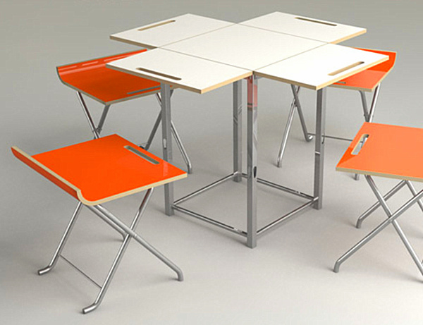 Image of: modern folding dining table