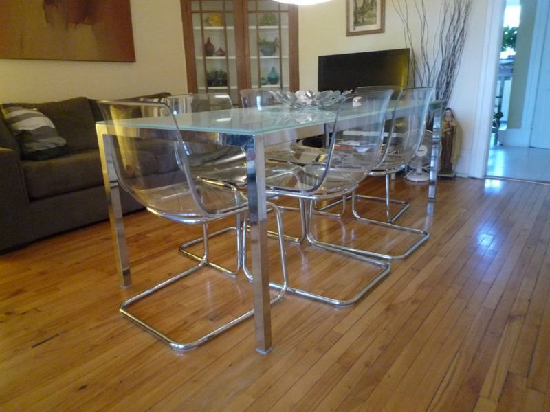 Image of: modern glass dining table ikea