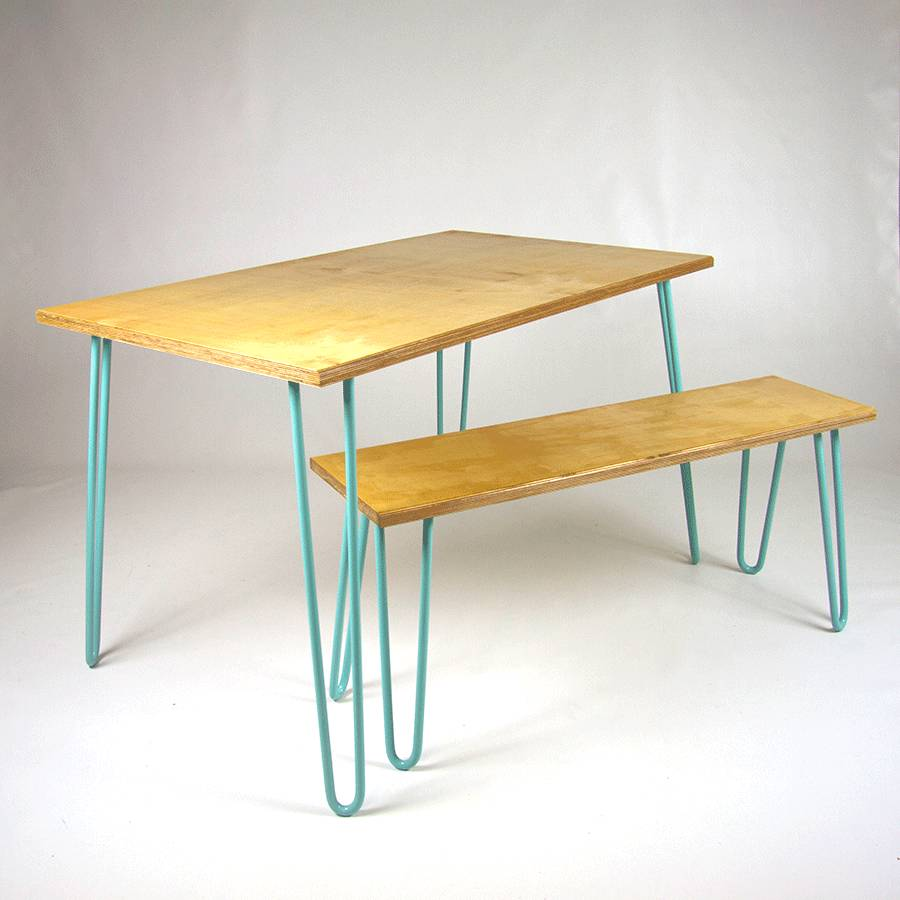 Image of: original birch dining table