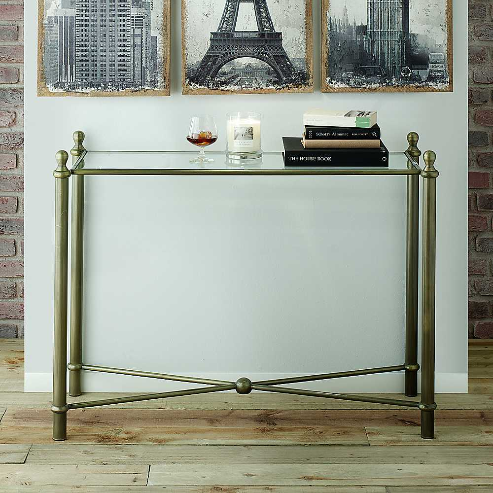 Image of: outdoor console table metal