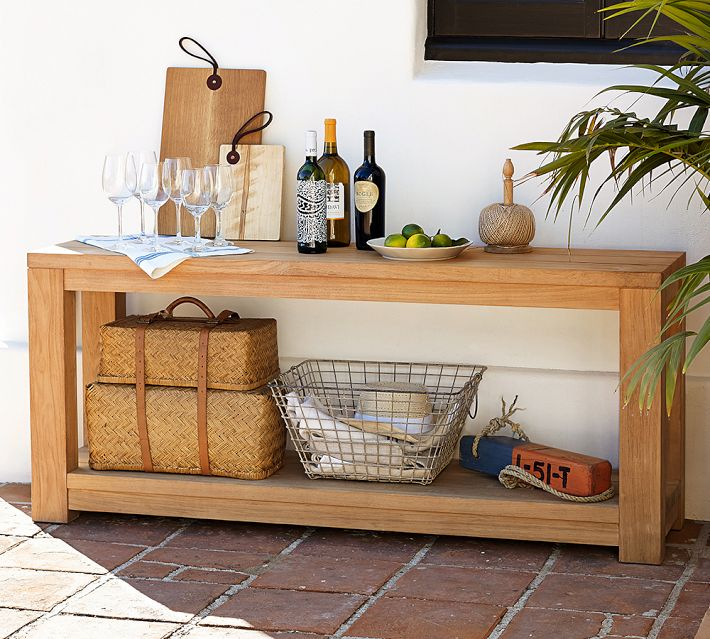 Image of: outdoor console table wood