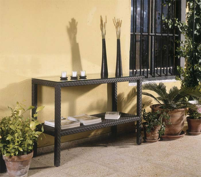 Image of: patio outdoor console table