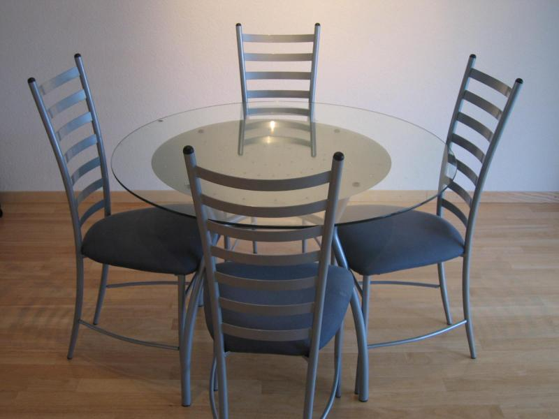 Image of: round glass dining table ikea design