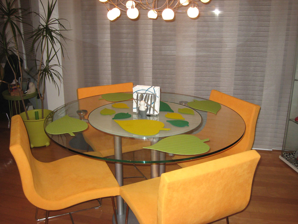 Image of: round glass dining table ikea