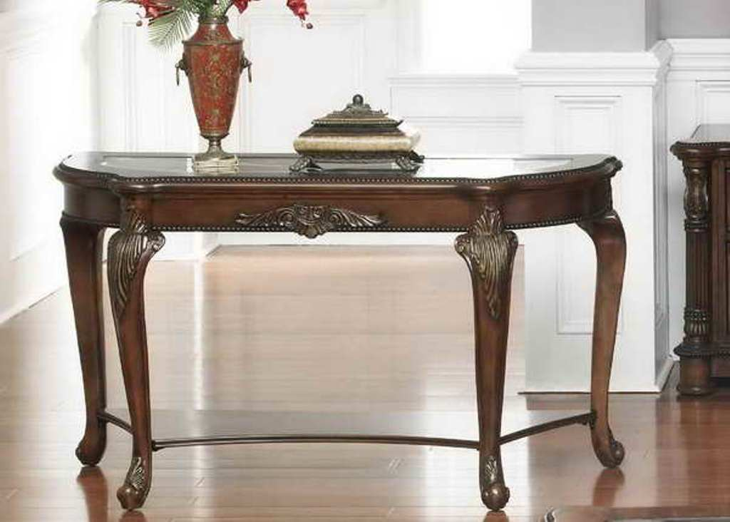 Image of: skinny sofa table Decor