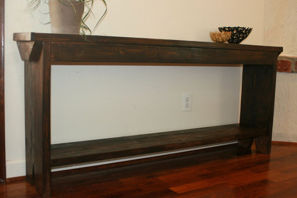 Image of: skinny sofa table Ideas