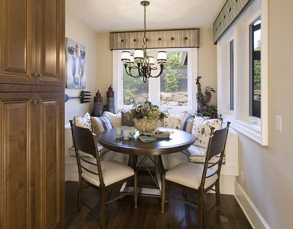 Image of: small breakfast nook table