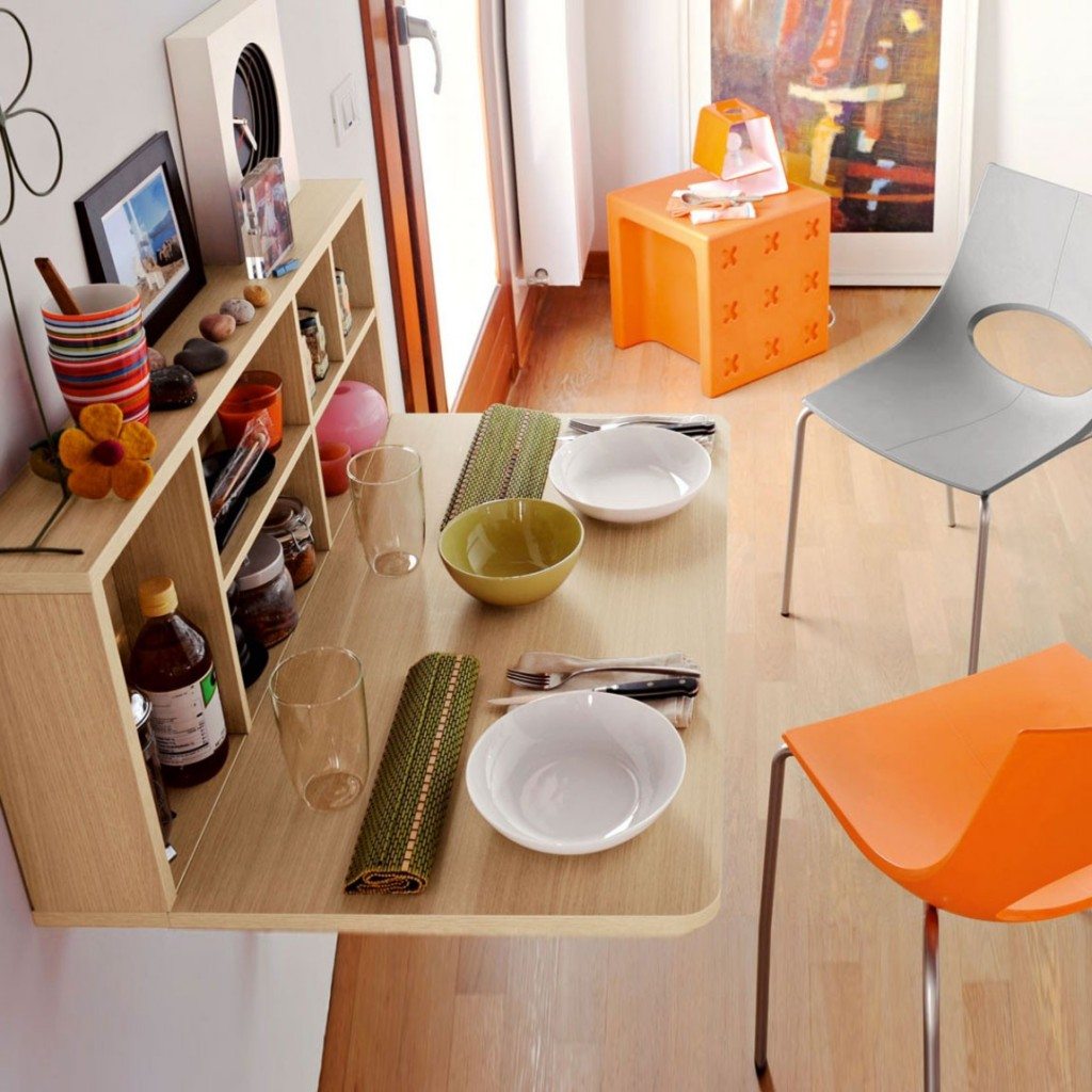Image of: small folding dining table