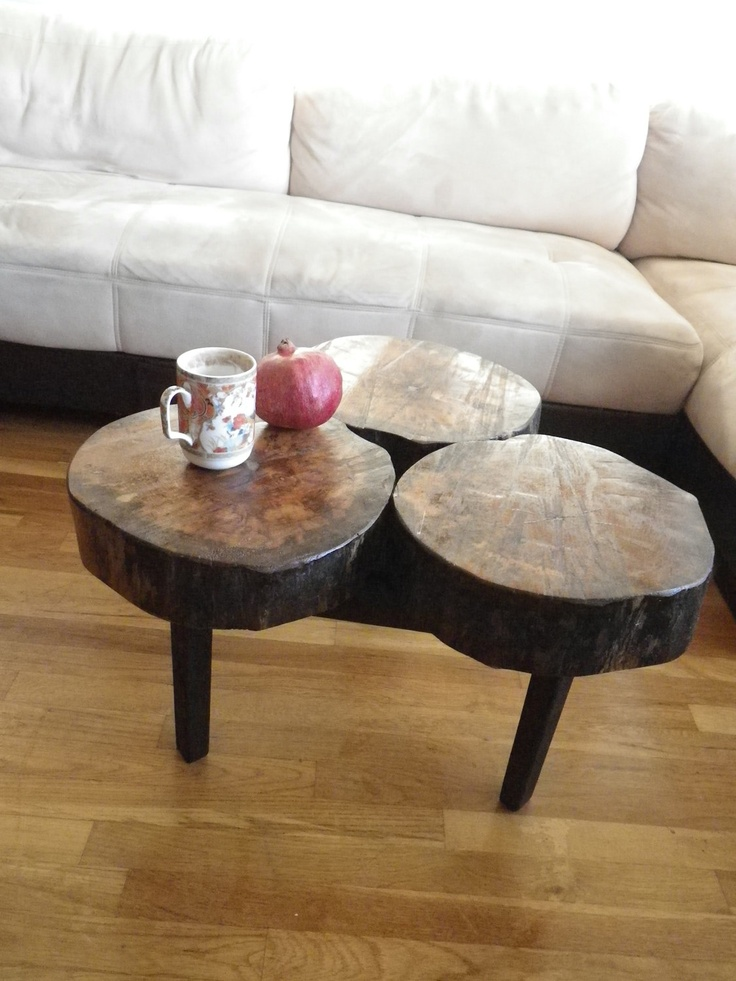 Picture of: tree stump coffee table image