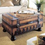Trunk Coffee Table Vintage Brown