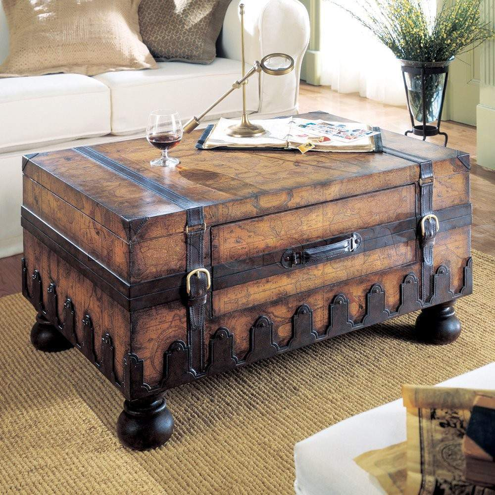 Picture of: trunk coffee table vintage brown