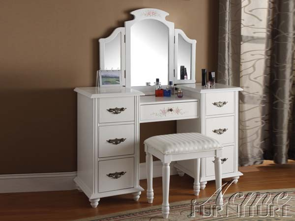 Picture of: white Mirror Vanity Table