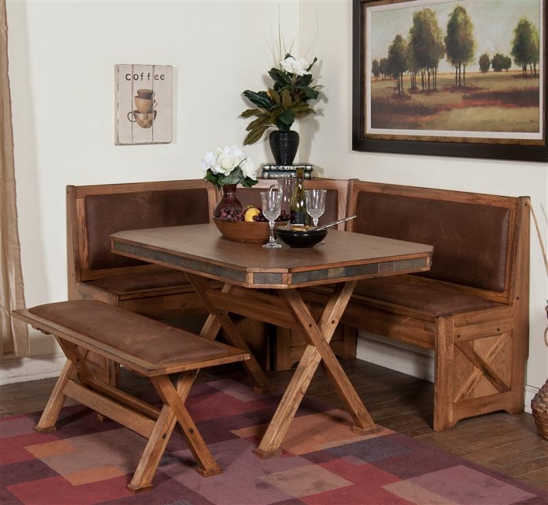 Image of: wood breakfast nook table