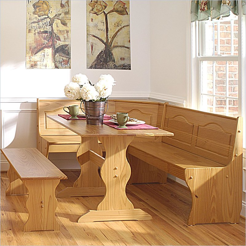 Picture of: wooden breakfast nook table