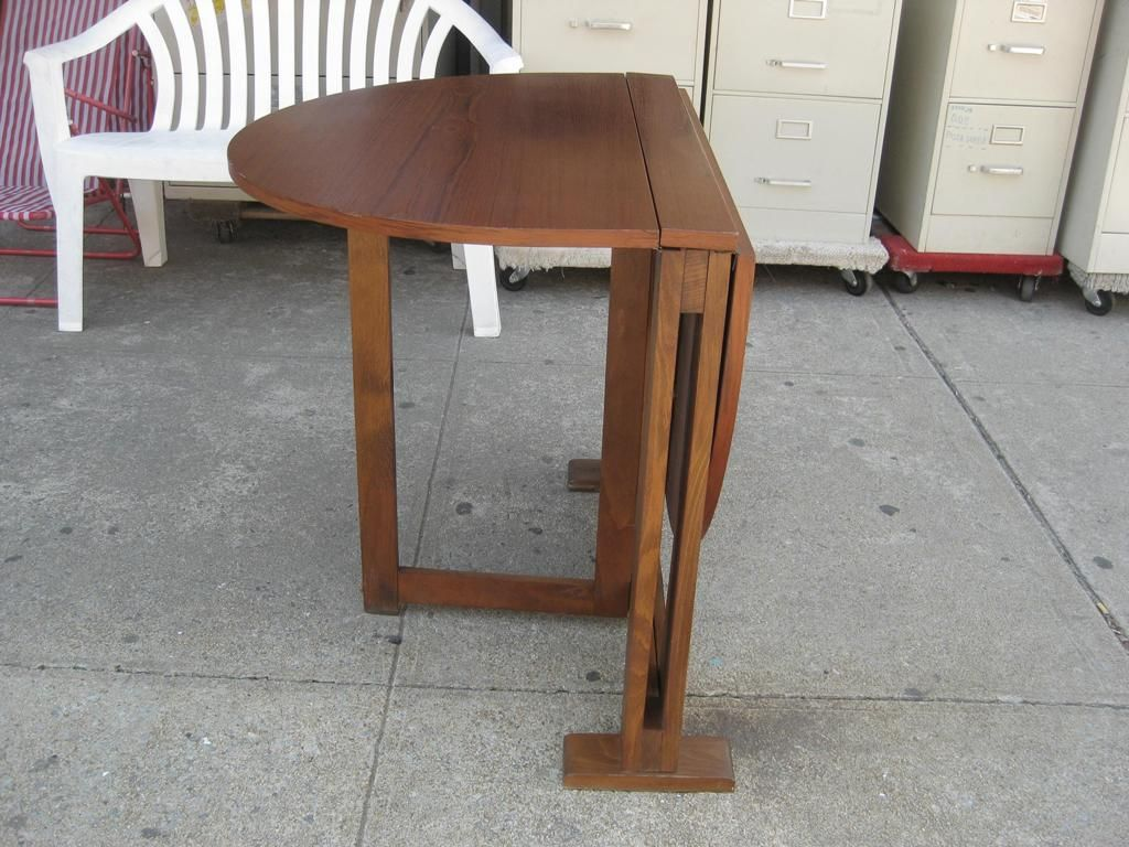 Image of: wooden folding dining table