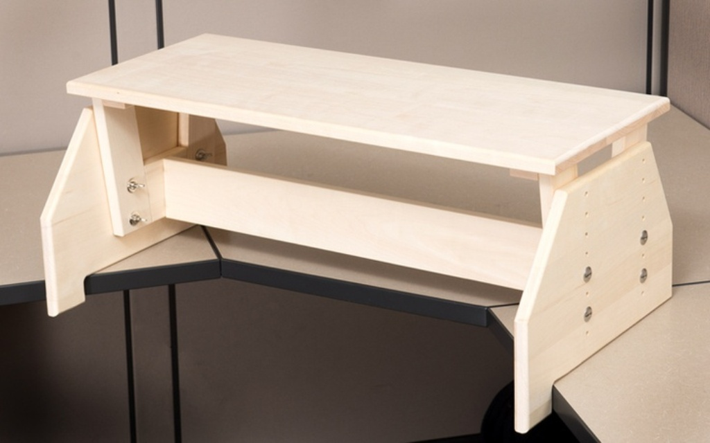 Picture of: Adjustable Standing Desk Converter