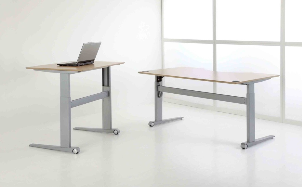 Picture of: Adjustable Standing Desk On Wheels