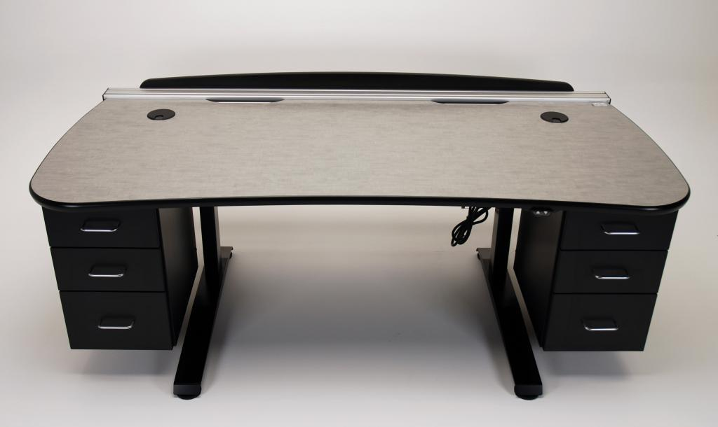 Picture of: Adjustable Standing Desk With Drawers
