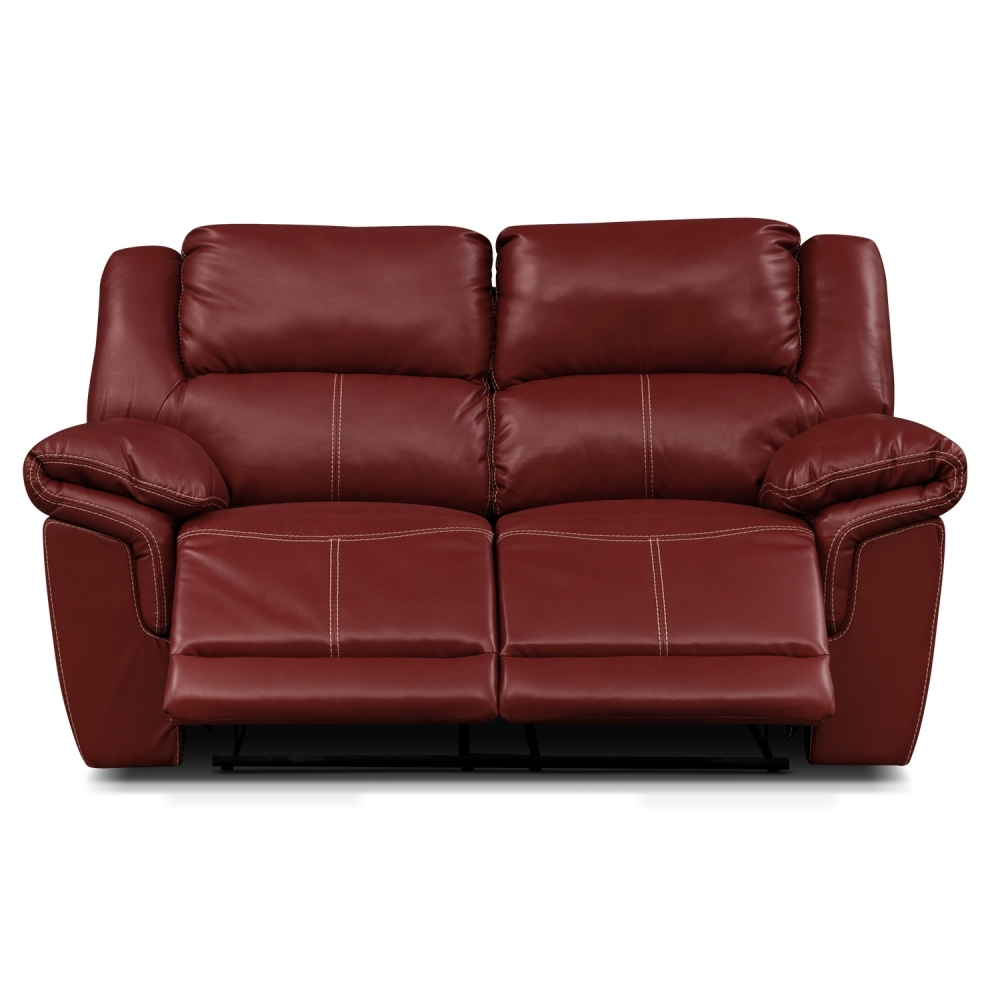 Amazing Leather Reclining Loveseat