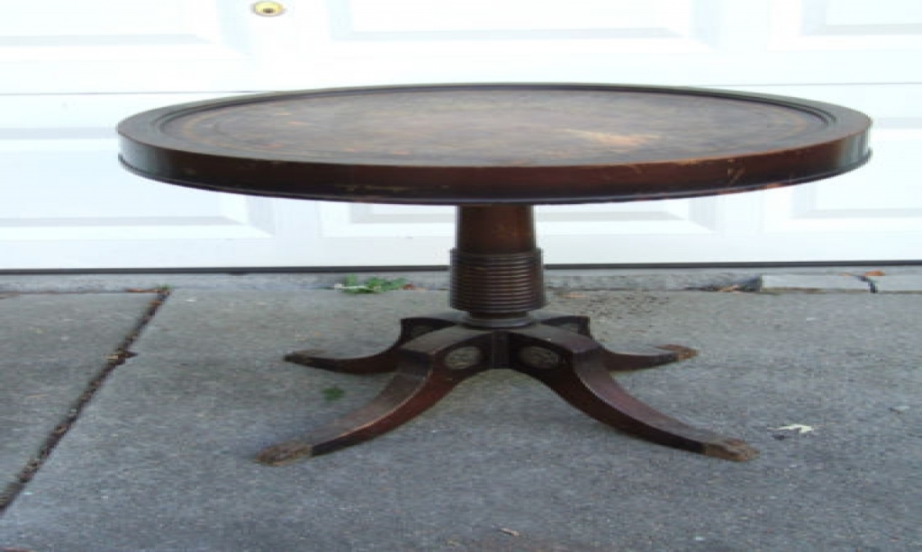 Picture of: Antique Coffee Table With Brass Claw Feet
