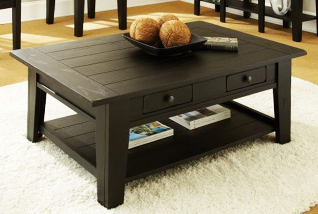 Picture of: Antique Coffee Table With Storage