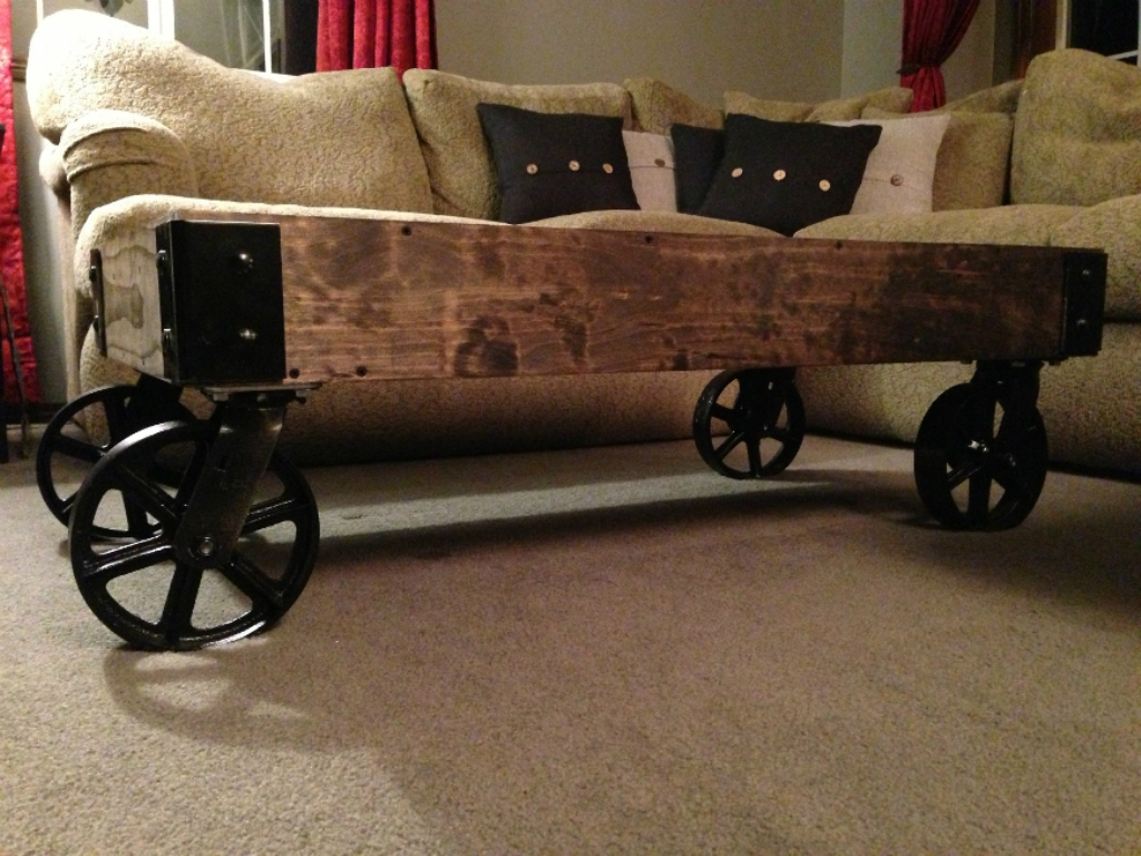 Picture of: Antique Coffee Tables With Wheels