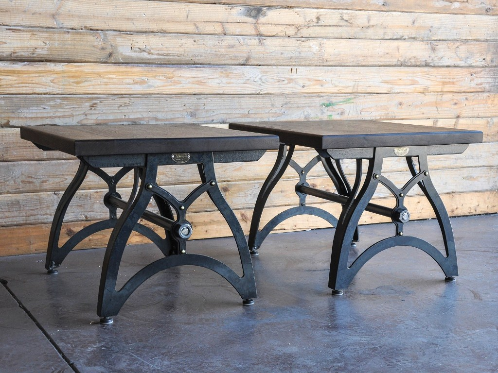 Antique Wrought Iron End Tables