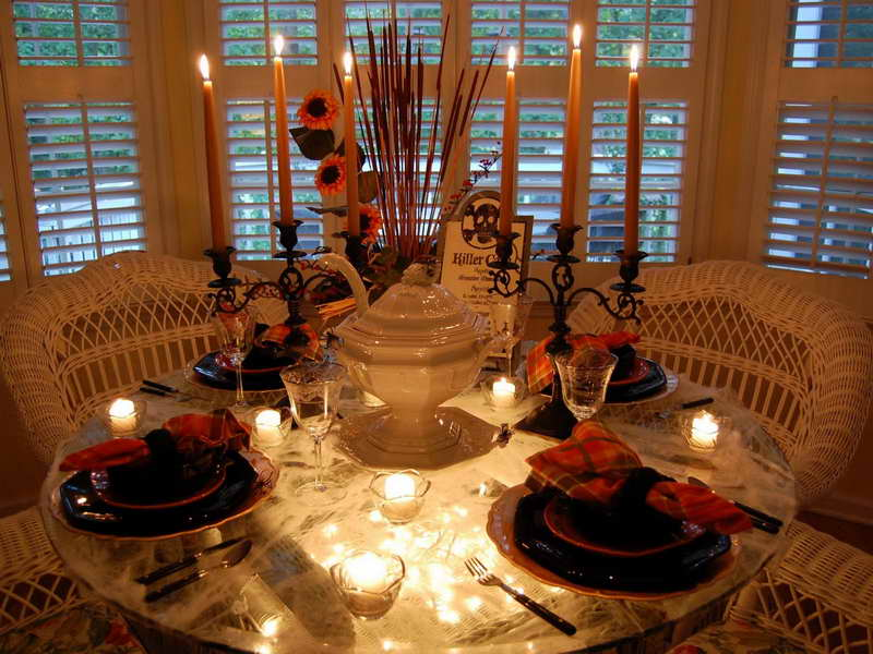 Image of: Awesome thanksgiving table decorations