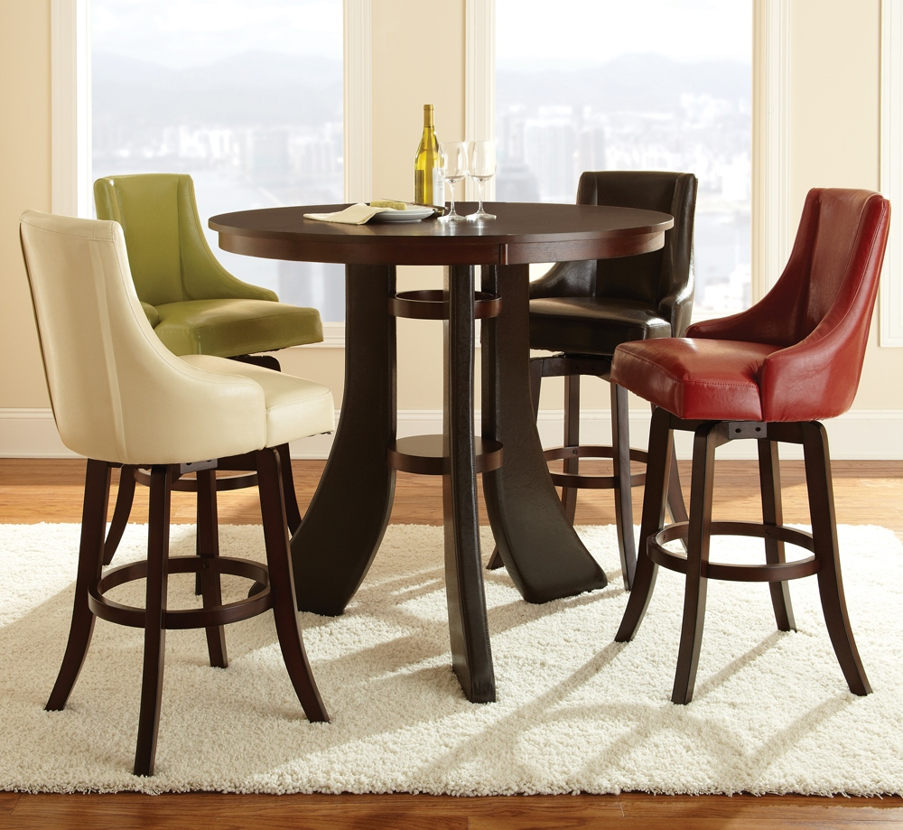 Image of: Bar Stool and Table Set Color