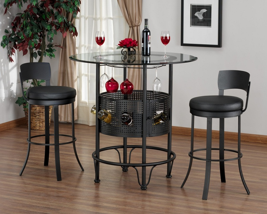 Image of: Bistro Bar Stool and Table Set