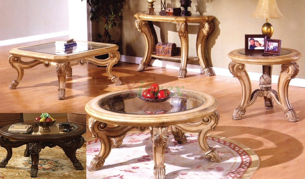 Image of: Black Round Coffee Table Sets