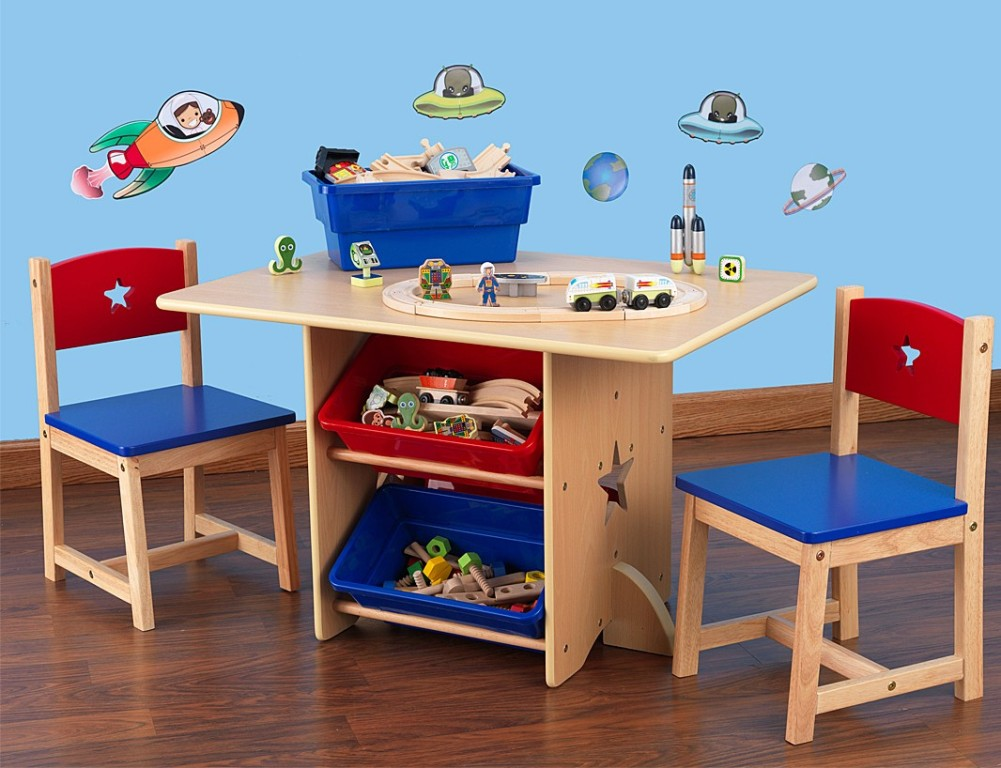 Image of: black toddler table and chairs