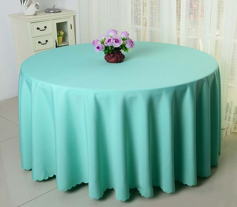 Image of: Blue Cocktail Table Linens