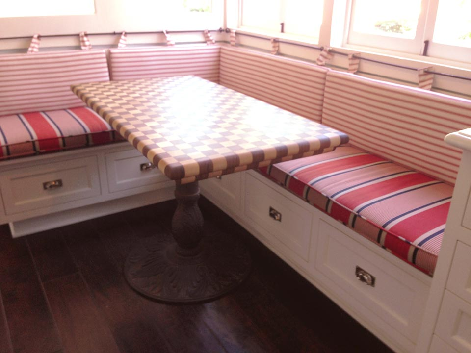 Picture of: Butcher Block Dining  Pink