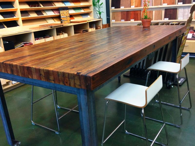 Image of: Butcher Block Dining Room Table Picture