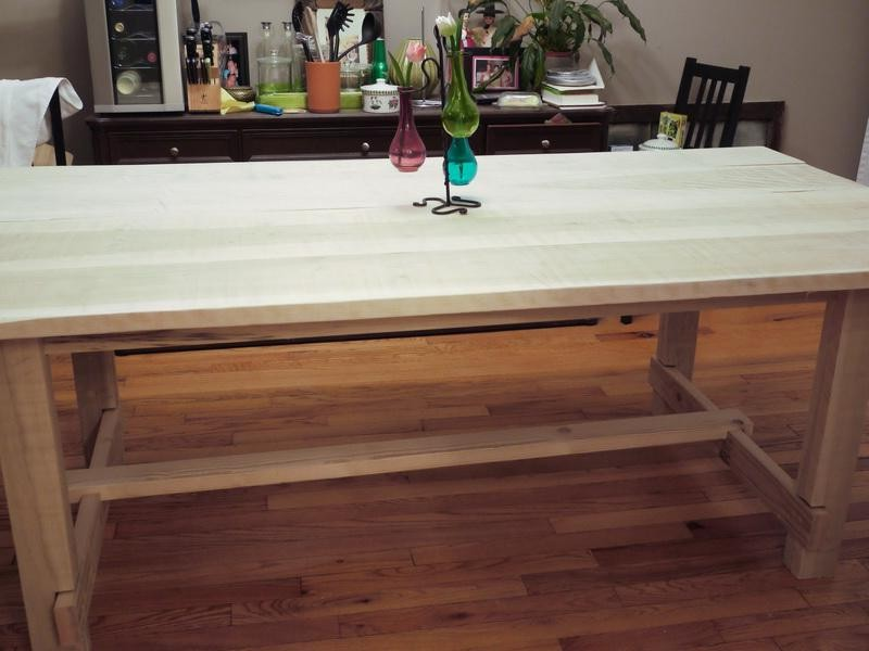Image of: Butcher Block Dining Table Beauty