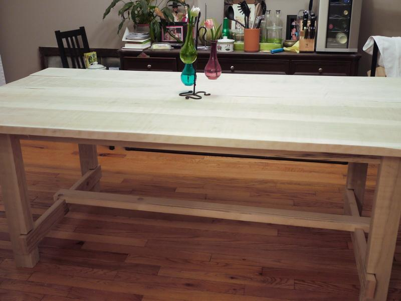 Image of: Butcher Block Dining Table Ikea