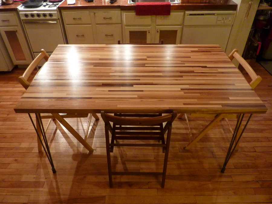 Image of: Butcher Block Dining Table Kill
