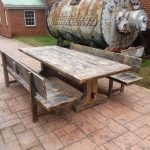 Charming Wood Patio Table