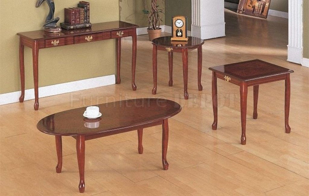 Image of: cherry wood end tables and coffee tables