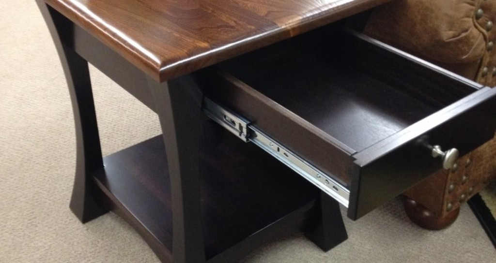 Image of: cherry wood end tables with drawers