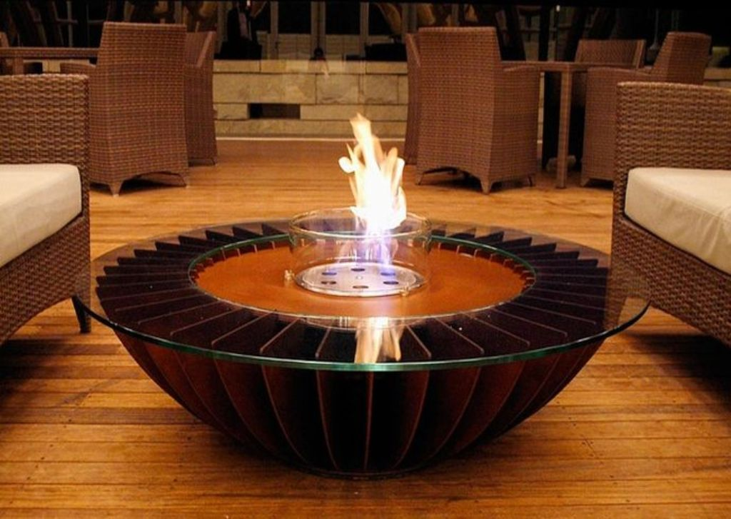 Image of: Coffee Tables With Fire