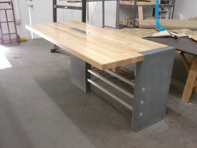 Image of: Contemporary Butcher Block Dining Room Table