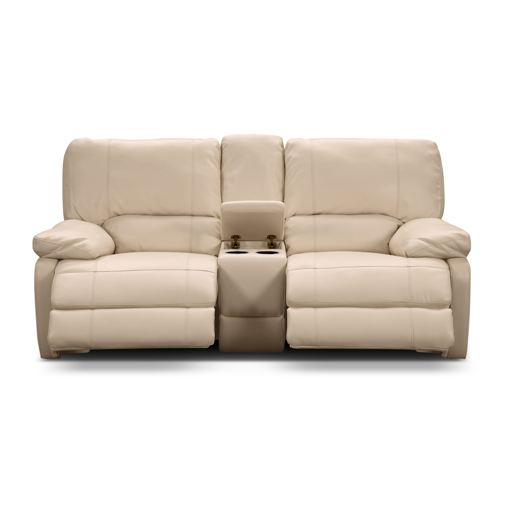 Picture of: Contemporary Leather Reclining Loveseat