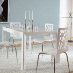 Contemporary White Lacquer Dining Table