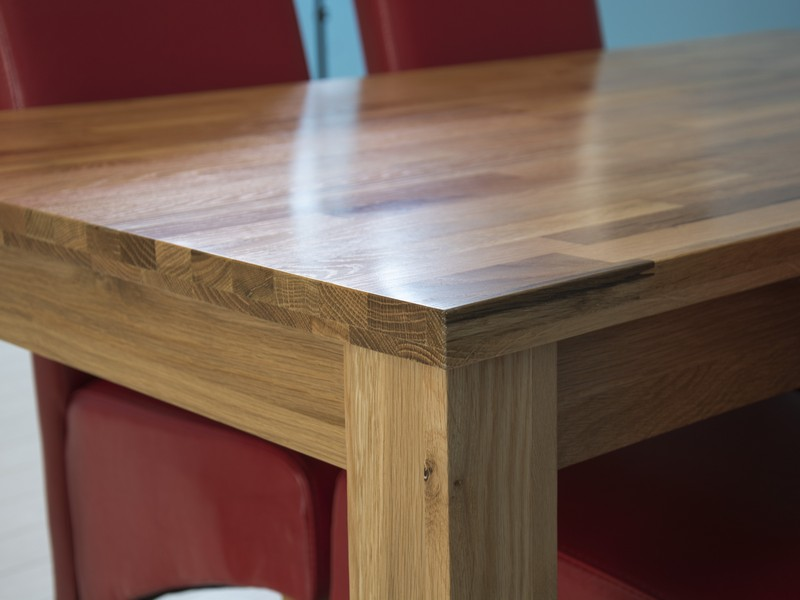 Image of: Country Butcher Block Dining Table