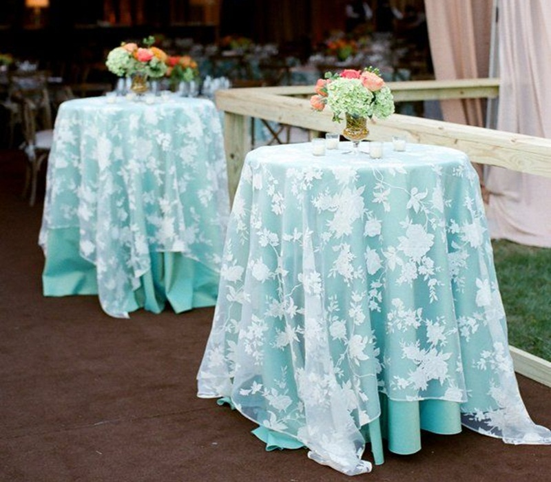 Image of: Design Cocktail Table Linens